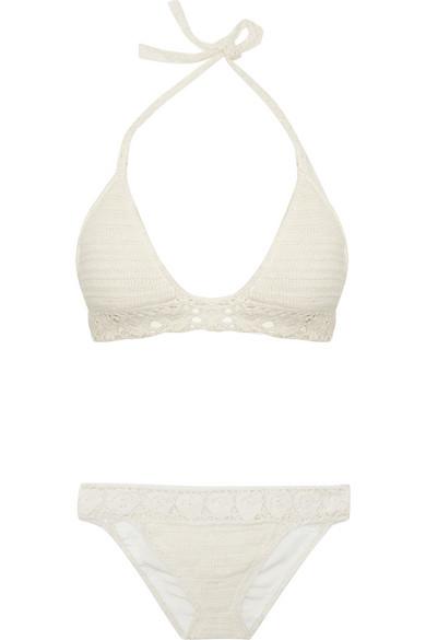 Lisa Maree|Walk That Walk crocheted cotton-blend bikini|NET-A-PORTER.COM