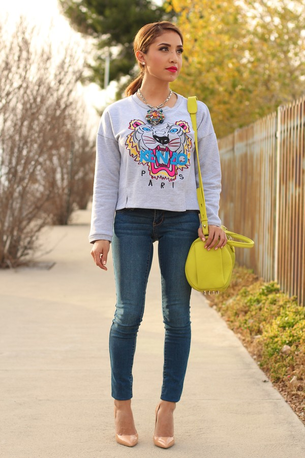 dulce candy sweater jeans bag shoes jewels