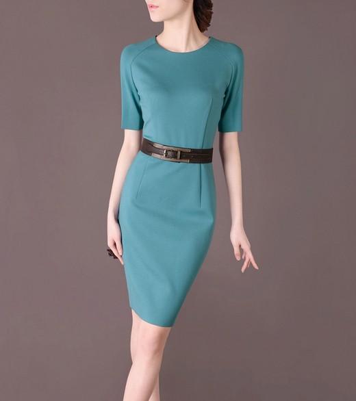 Blue Elegant Noble Summer OL Slim Women Fashion Dress lml7014 - ott-123 - Global Online Shopping for Dresses