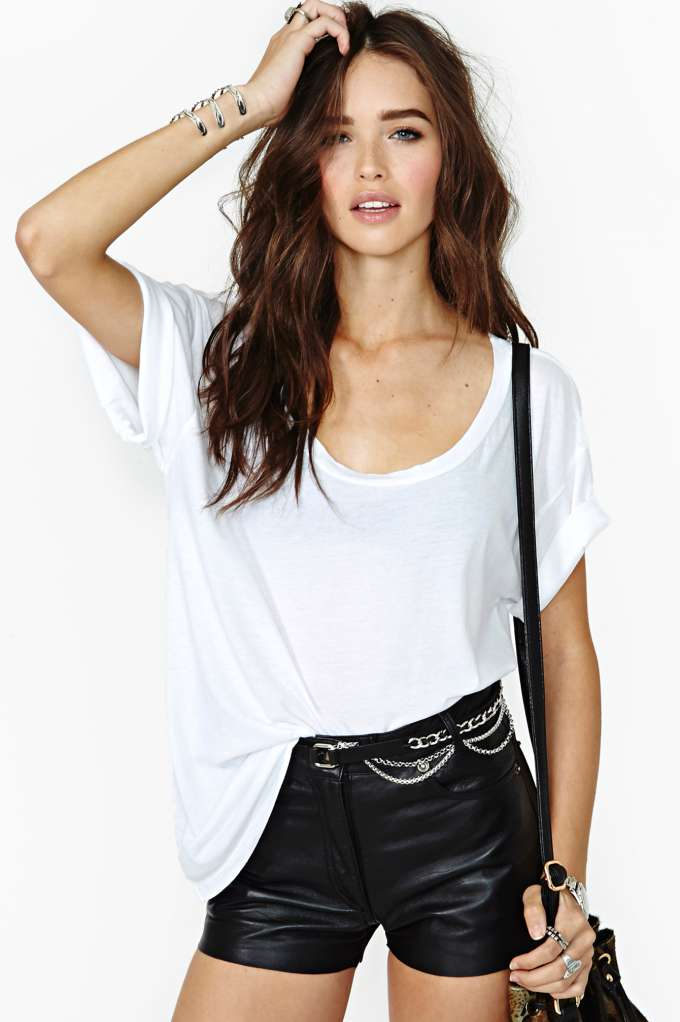 New Boyfriend Tee - White in  What's New at Nasty Gal