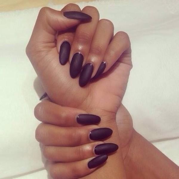 nail polish matte black black nails nailpoilsh