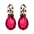 Janis by Janis Savitt Antiqued Chain and Pink Crystal Earrings - Max and Chloe