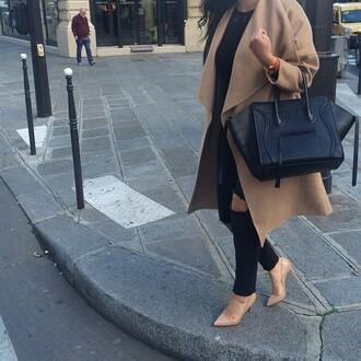 coat nude nude coat nude jacket waterfall trench coat oversized oversized collar wrap coat caramel caramel wrap coat