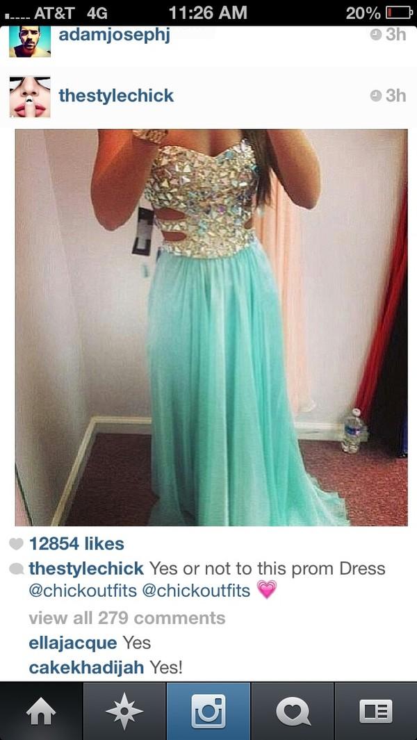 dress light blue prom dress