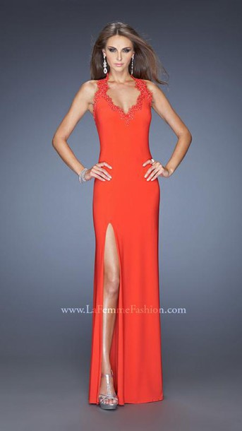 dress la femme 20125 red homecoming gowns