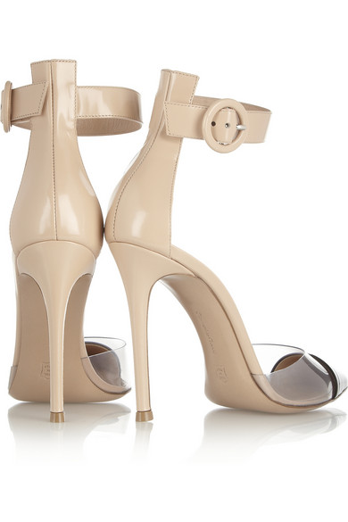 Gianvito Rossi | PVC and glossed-leather pumps | NET-A-PORTER.COM