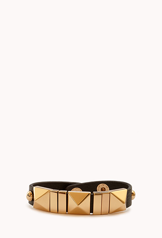 High-Voltage Faux Leather Cuff | FOREVER21 - 1000110931