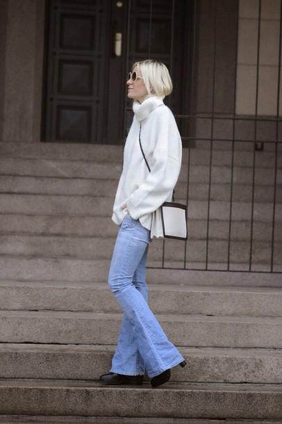 hippie hippie milkshake blogger jeans turtleneck oversized turtleneck sweater