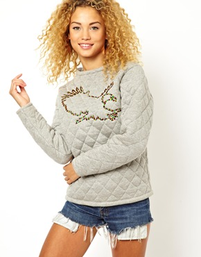 ASOS | ASOS Sweatshirt with Quilted Eagle Applique at ASOS