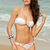 Hollow Out Metal Ornamental Divided Type Nylon Solid Color Swimwear Bikini : KissChic.com