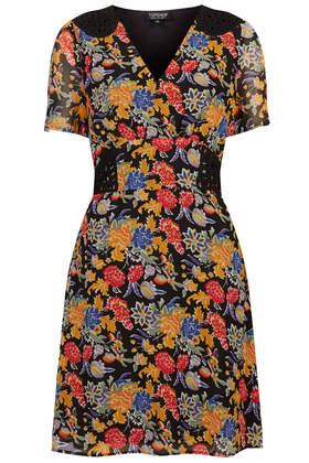 Floral Print Cornelli Tea Dress - Dresses - Clothing - Topshop USA