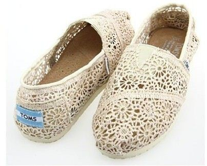 Latest New Womens Toms White Lace hook flower Classic Shoes [tom227] - $86.40 : , Nice Shoes online store
