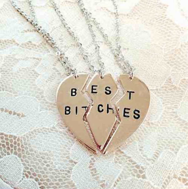 jewels best bitches migos versace dolce and gabbana bff mtv tumblr cute jewelry nails necklace bff friends friendship necklace gold bitch best outfit made bestfriend necklace