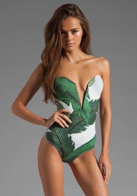 BEACH RIOT // STONE_COLD_FOX Gally Cook One Piece in Palm Print at Revolve Clothing - Free Shipping!