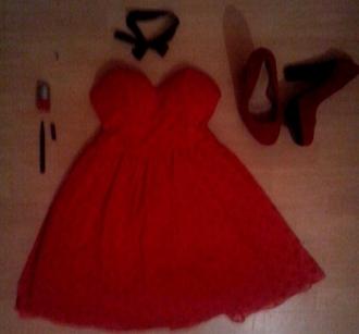 shoes kiabi heel black red bicolor chunky heels false suede