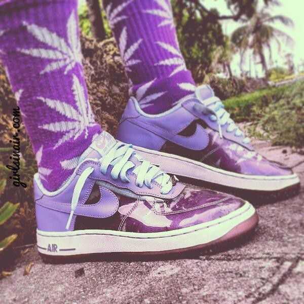 shoes weed socks purple shoes nike