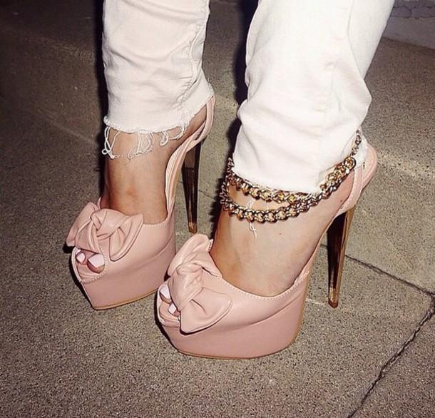 shoes peep toe heels peep toe sandals high heels plateau high heels platform high heels nude high heels nude lanyard sexy cute rose