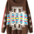 ROMWE | ROMWE Geometric Knitted Color Block Coffee Cardigan, The Latest Street Fashion