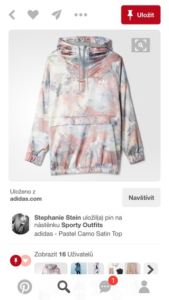 jacket camouflage pastel adidas women jacjet hoodie