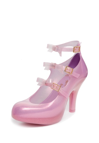 Pink Elevated Three Straps with Bow | Vivienne Westwood