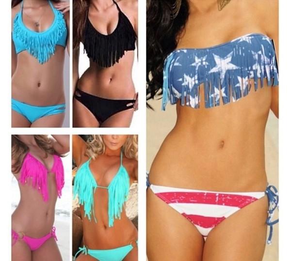 swimwear cute sexy american flag