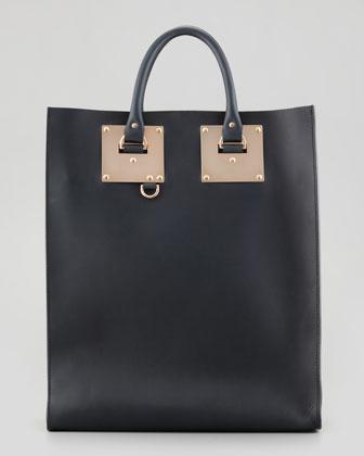 Sophie Hulme Signature Leather Tote Bag, Black - Neiman Marcus