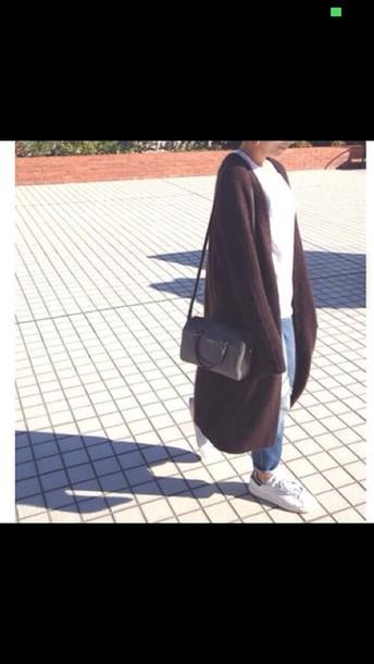 cardigan brown jacket