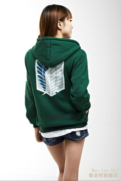 sweater hoodie anime anime hoodie anime sweater attack on titan warm