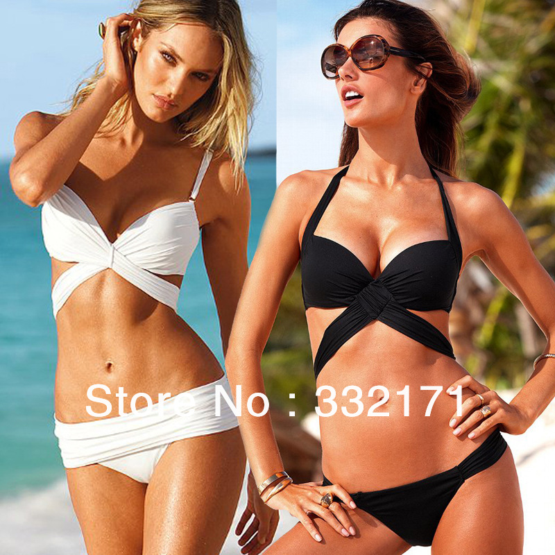 Free shipping  Brand Lattice Cut Out Strappy Top swimsuits Ladies swimwear beachwear-in Bikinis Set from Apparel & Accessories on Aliexpress.com