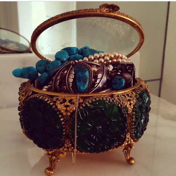 jewels vintage jewelry box home accessory jewelery box home decor