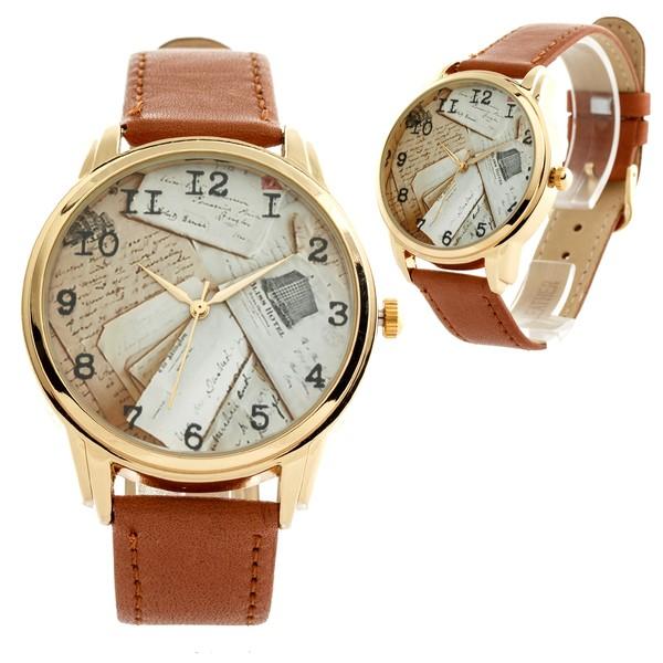 jewels letters brown letters watch designer watch unique watch unusual watch beautiful watch ziz watch ziziztime