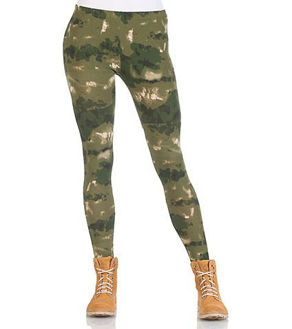 FRENCH CAMO LEGGING - Green - CROOKS AND CASTLES | Jimmy Jazz