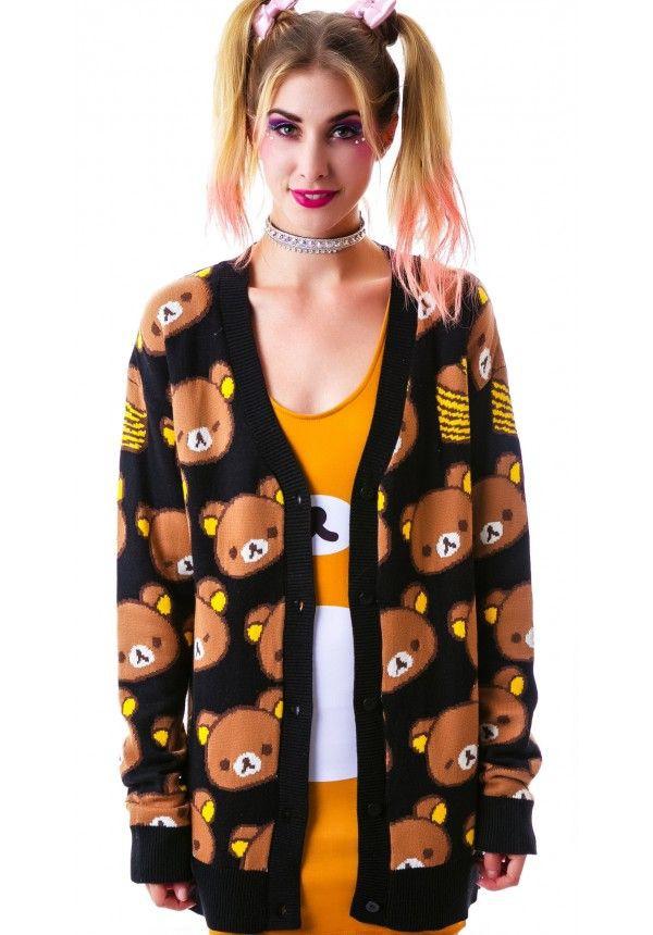 cardigan cute bear japanese