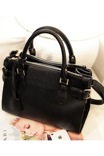 Square Double Straps Buckle Handbag/Shoulder Bag [ib00010]- US$47.99 - PersunMall.com