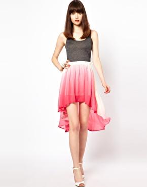 Goldie   Goldie Dip Dyed Skirt at ASOS
