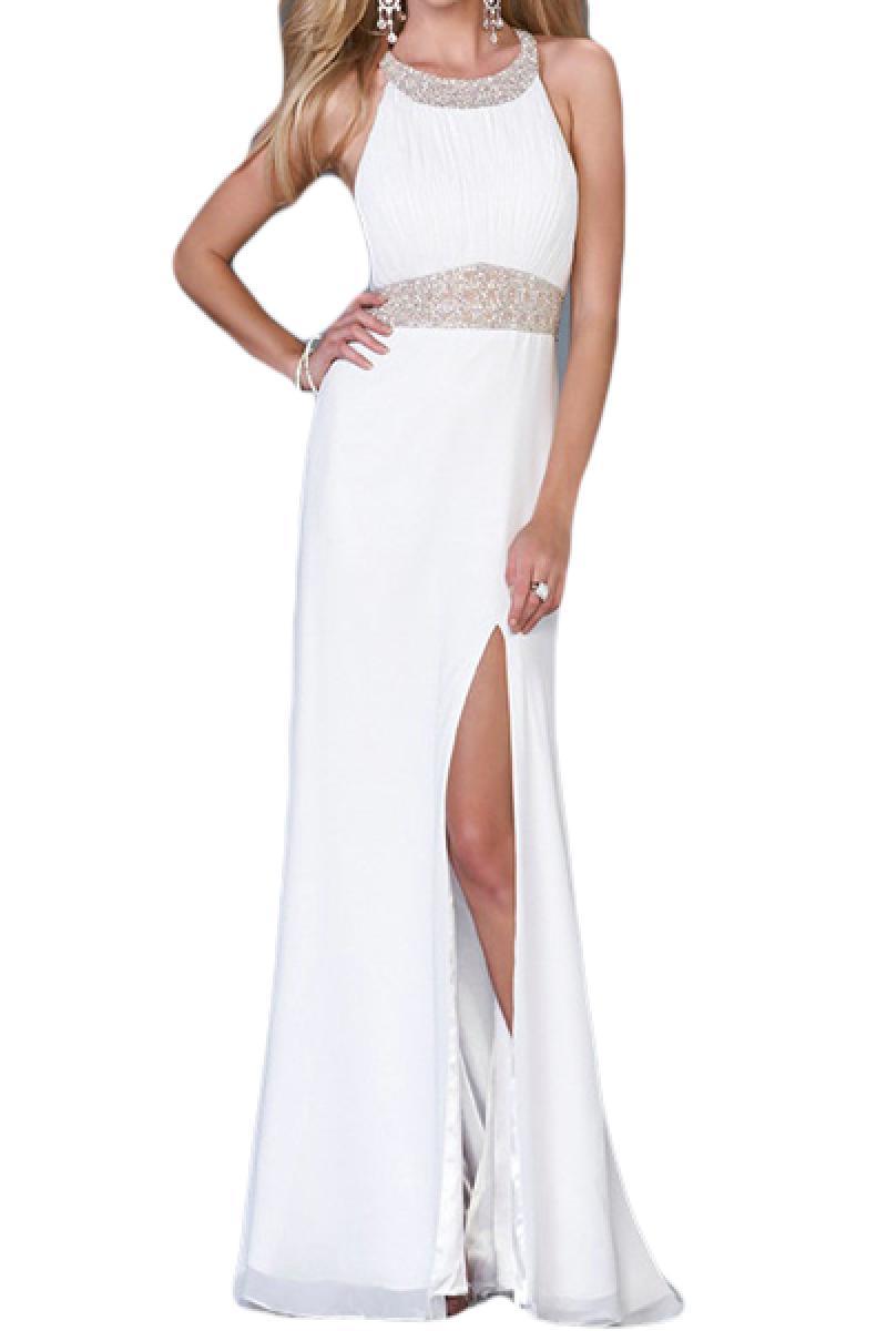 New Halter Backless Slits Evning Dress,Cheap in Wendybox.com