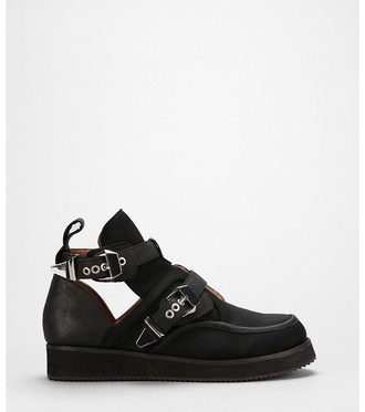shoes creepers low boots ankle boots cut out ankle boots