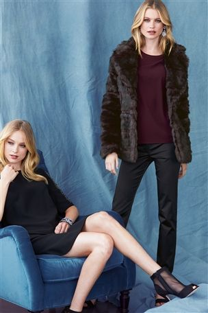 Buy Berry Faux Fur Jacket from the Next UK online shop
