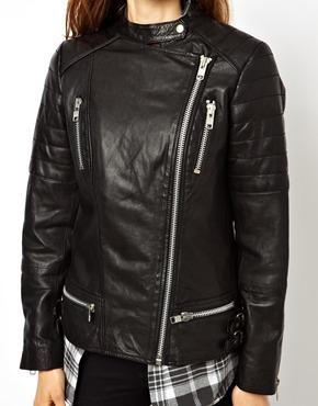 ASOS | ASOS Leather Boyfriend Biker Jacket at ASOS