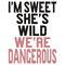 """i'm sweet she's wild we're dangerous (2 of 2)"