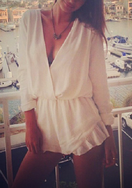 Glamour White Playsuit