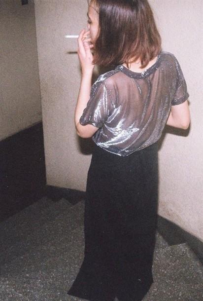 shirt tees glitter grunge indie goth skirt dress skirt hipster t-shirt crop tops
