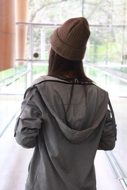 jacket grey zip cozy