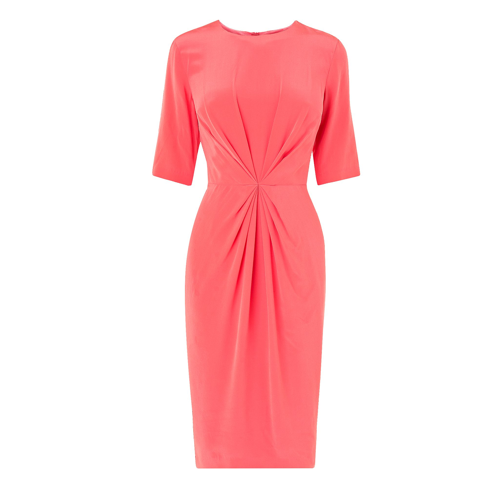 L.K. Bennett Lisburn pleat detail dress Coral - House of Fraser