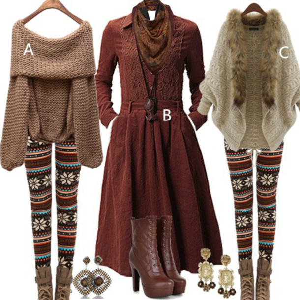 sweater leggings boots accessories