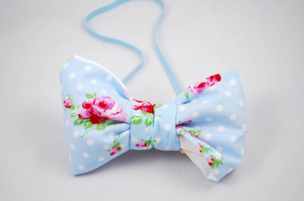 jewels cute floral blue bow fashion band bag