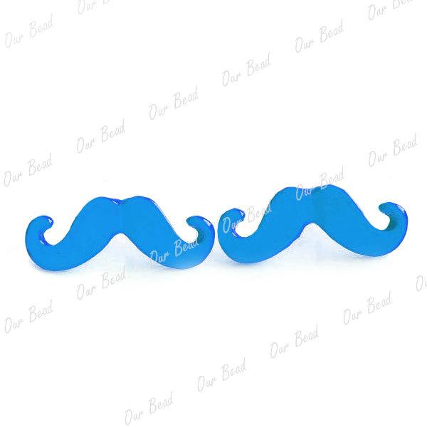 1 Pair Alloy Punk Retro Mustache Moustache Ear Studs Earrings New 6 Colours | eBay