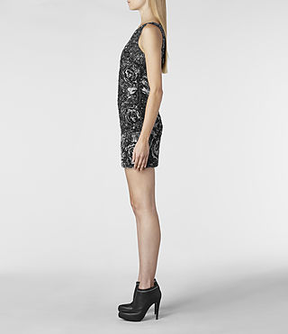 Womens Ivy Dress (Charcoal) | ALLSAINTS.com