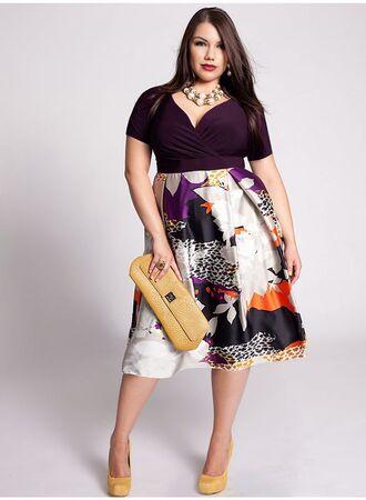 K co plus size dresses midi
