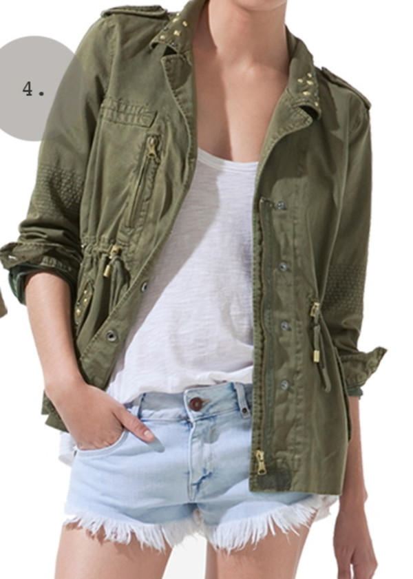 Top jacket, hipster, camouflage, military style, army green jacket  VX71